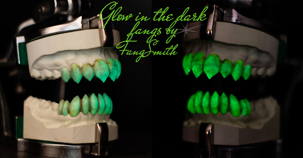 Glow in the dark special effects vampire teeth by FangSmith Australia.