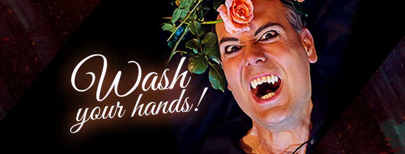 Even vampires wash their hands!