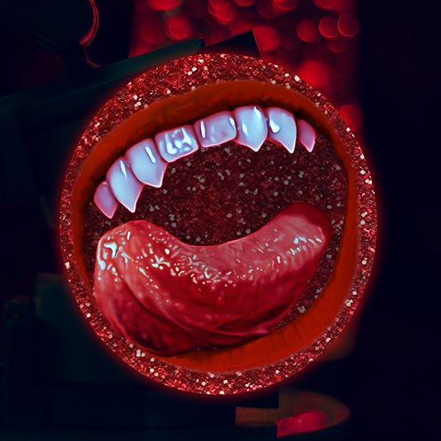Befanged Lips-Red Glitter Edition