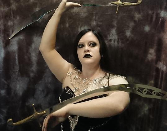 Katanya; specialisng in sword dance and floor work.
