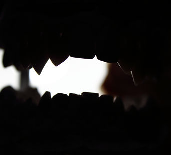 Shadow of vampire fangs, front viewed