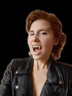 Dramatic length vampire fangs