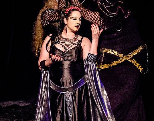 Ikari, a dark gothic belly dancer.