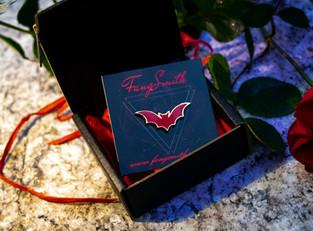 NEW: Limited Edition Enamel Bat Pin & 'The Dark Gift' Box!