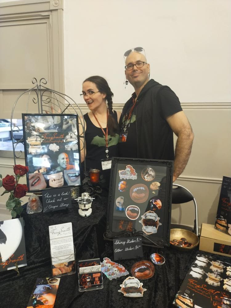 Megan and Jarrad of FangSmith at the Perth Oddities and Curiosities Market