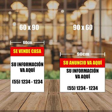 Cartel Venta/inmobiliario
