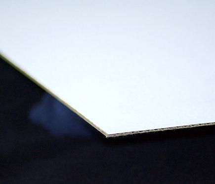 Lámina Cartón Corrugado 1 cara blanca