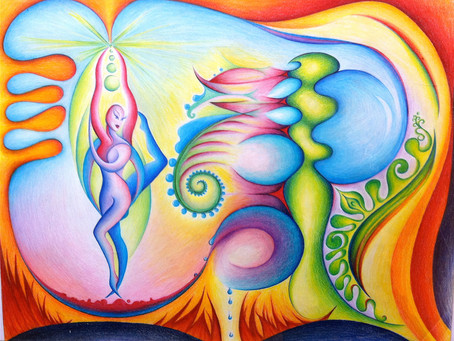 """Elemental Goddess"" Drawing"
