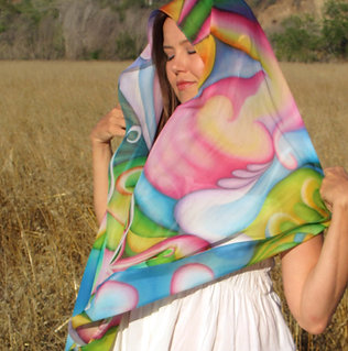 Art Scarf: Groundswell of Spring