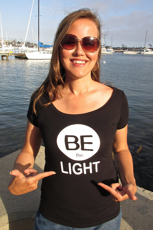 Be The Light - Female Fitted Tee Shirt