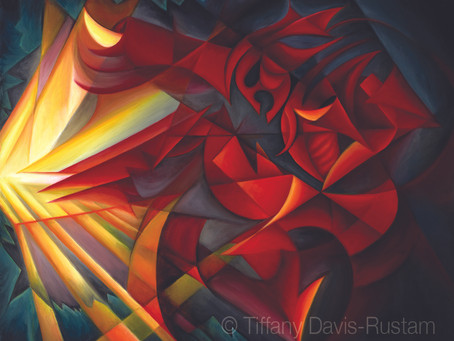 """Light Warrior"" Painting SOLD—Too Hot to Handle!"