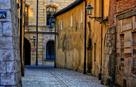 Kanonicza street with houses dating back to medieval centuries and  Polish Renaissance.