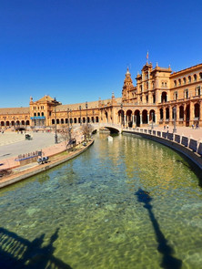 The Plaza de España in Seville, builr for the for the Ibero-American Exposition of 1929.
