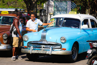 Typical Taxi in Havana Vieja