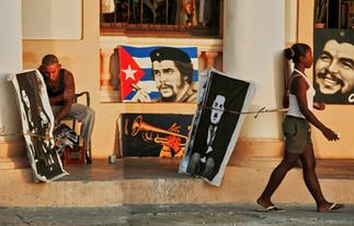 Local artist on Malecon, Havana