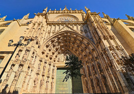 The Cathedral of Seville is the fourth-largest church in the world as well as the largest Gothic church.