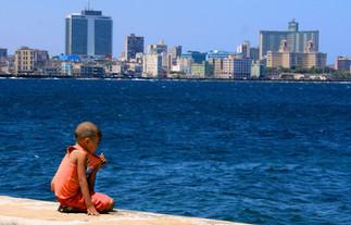 el Malecon overlooking Vedado  district in Havana