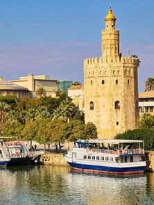 The Torre del Oro erected by the Almohad Caliphate in order to control access to Seville via the Guadalquivir river.