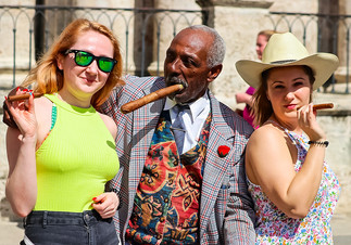 Smoking Cuban Cigars