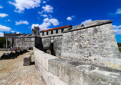 Harborside star fort in Plaza de Armas, built in the mid-1500s & today housing a maritime museum.