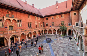 Collegium Maius at the Jagiellonian University. Founded in 1364 by Casimir III the Great, the Jagiellonian University is the oldest university in Poland, the second oldest university in Central Europe, and one of the oldest surviving universities in the world.