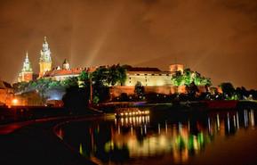 Royal Wawel castle by night