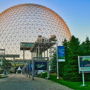 Montreal Biosphere, designed by Buckminster Fuller for the 1967 Expo