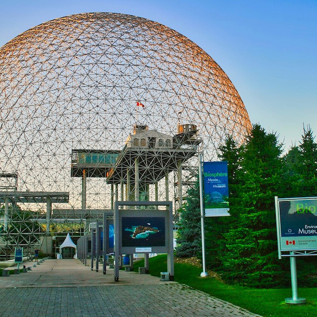 Montreal Biosphere, designed by Buckminster Fuller for the 1967 Expo