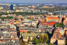 Panorama of the Jewish Quarter of Kazimierz