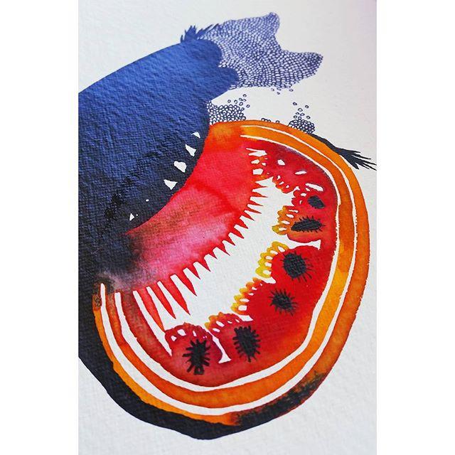 🐟#ink #watercolours #bumholes