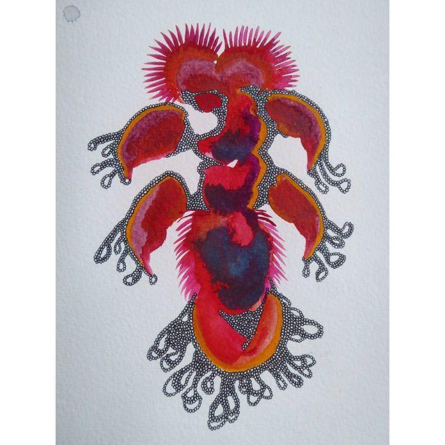 #watercolor #watercolour #painting #gouache #illustration #underthesea #tasmania #abstract #australi