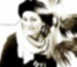 Portrait en noir et blanc de Corinne Guerout