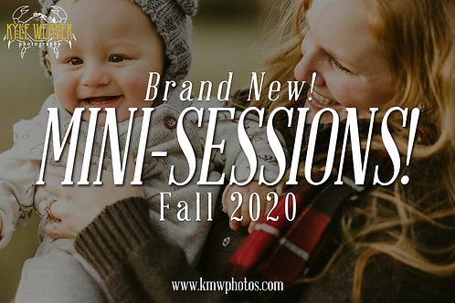 Mini Sessions - November 7, 2020 - 4:30pmTS