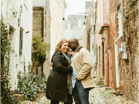 Sophie & Monty - An Old Town Alexandria Engagement Session