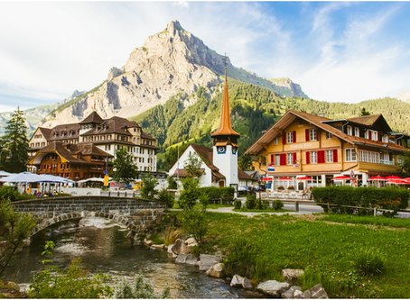 Kandersteg, Switzerland - The heartland of cowbells, chocolate & picturesque, post-card landscap