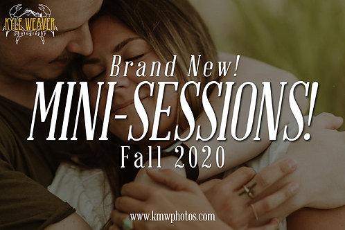 Mini Sessions - November 7, 2020 - 3:00pmTS