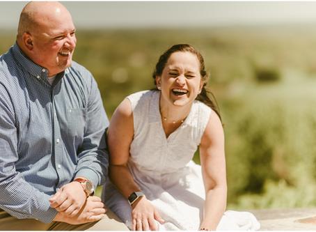 Delia & Steve - A Bluemont Vineyard Engagement Session