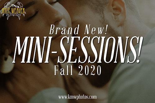 Mini Sessions - November 7, 2020 - 3:30pmTS
