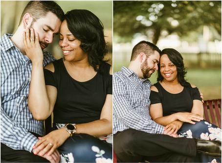 Monique & Chris - A Charlotte Hall Engagement Session