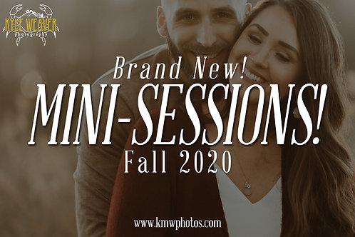 Mini Sessions - November 7, 2020 - 4:00pmTS