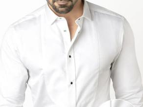 Spectre White Cotton Slim Fit Tuxedo Shirt - Zodiac