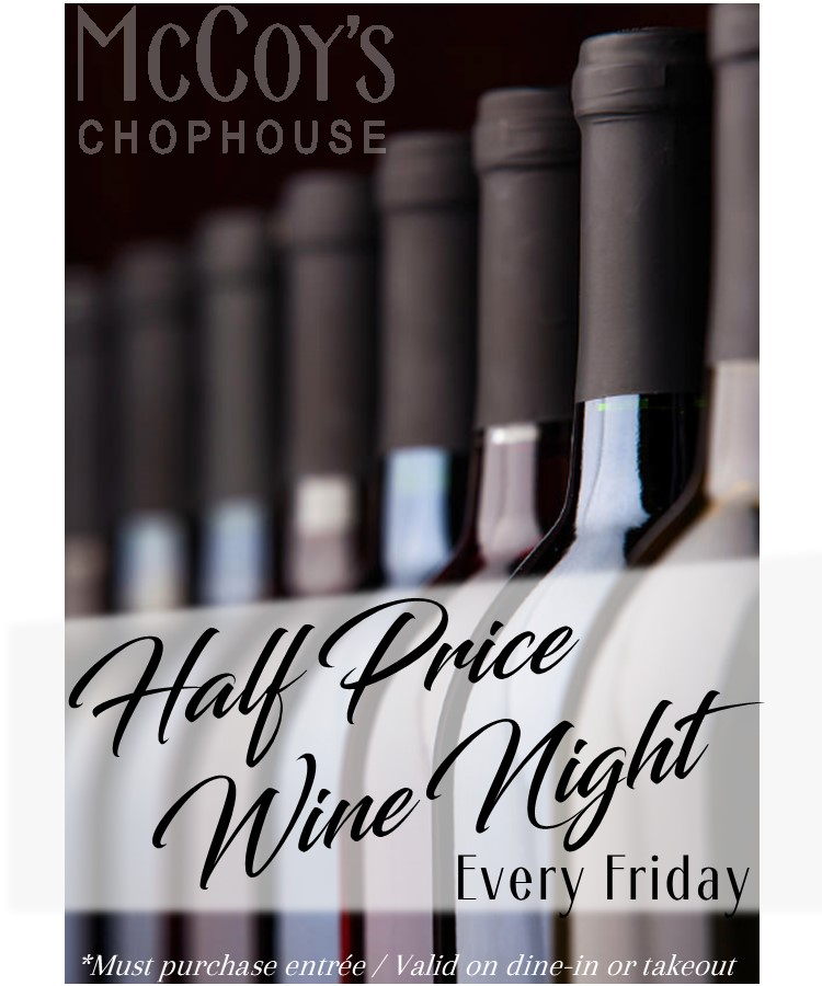 half price wine night