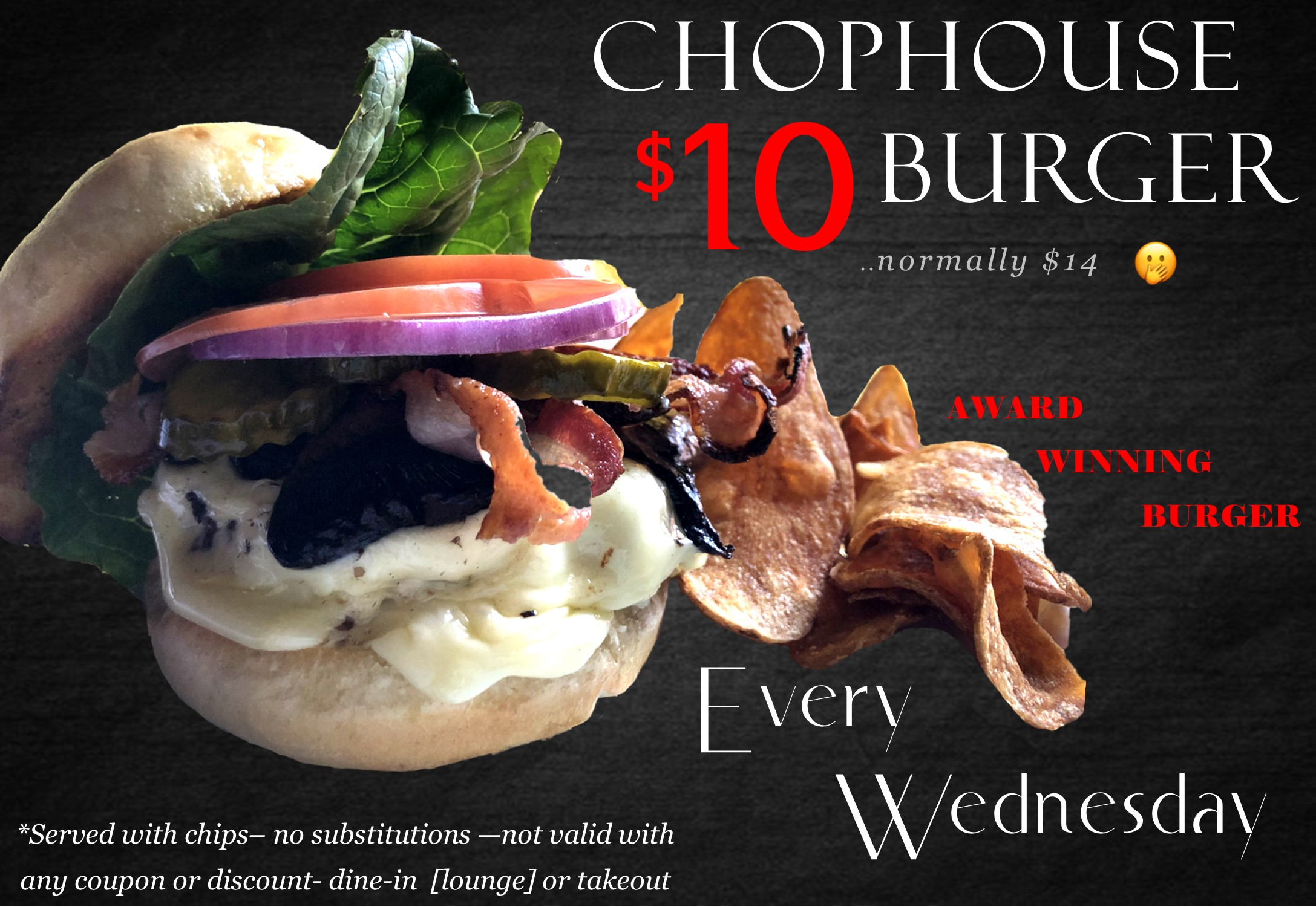 $10 Humpday Burger