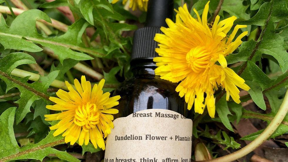 Floral Breast Massage Oil