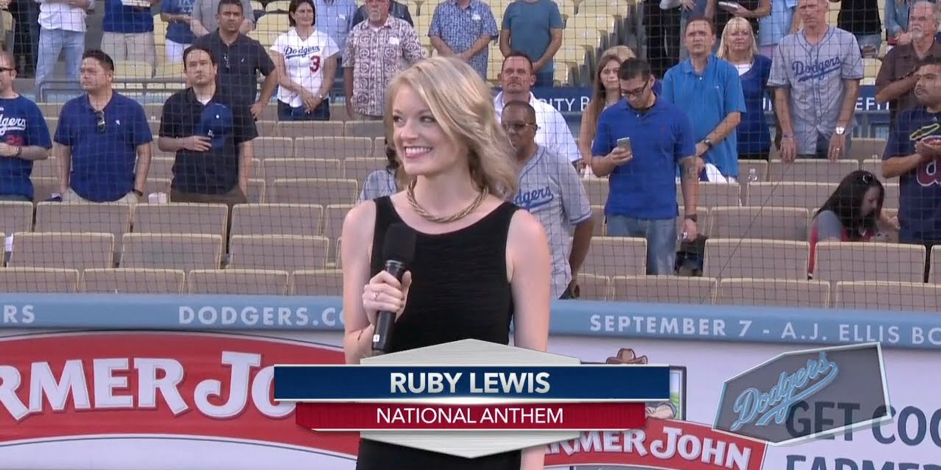 Ruby Lewis at Dodgers Stadium