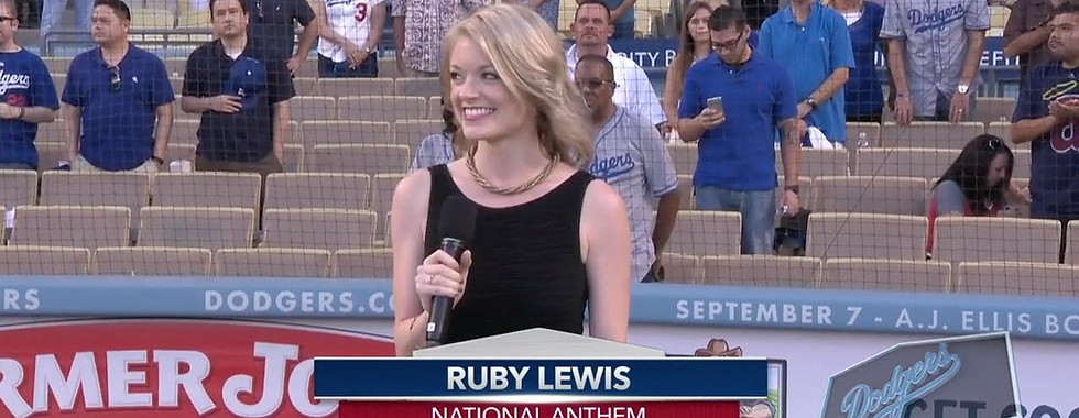 Ruby Lewis at Dodgers Stadium