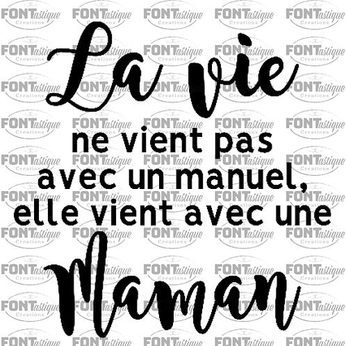 """La vie ne vient pas (12""""x12"""")"""