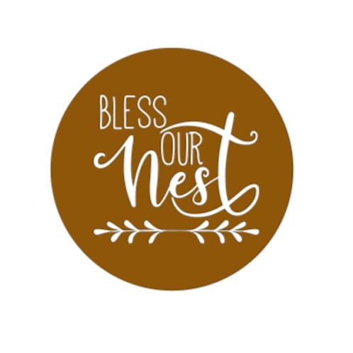 """Front Door Hanger (15"""") - Bless our nest"""