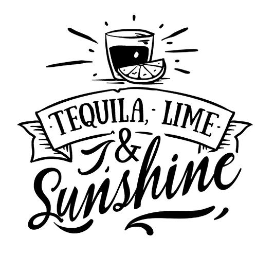 "Tequila, Line & Sunshine (12""x12)"