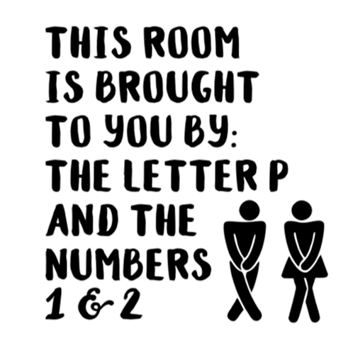 """This room is brought to you by the letter P (12""""x12"""")"""